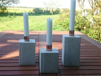 Beton Kerzenständer selber machen Aneitung