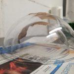 Beton Deko Schale mit Halbkugeln aus Plastik selber machen Anleitung